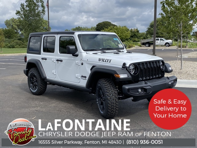 New 2020 Jeep Wrangler Unlimited Willys Sport Utility In Saline 20u2745 Lafontaine Chrysler Dodge Jeep Ram Of Saline