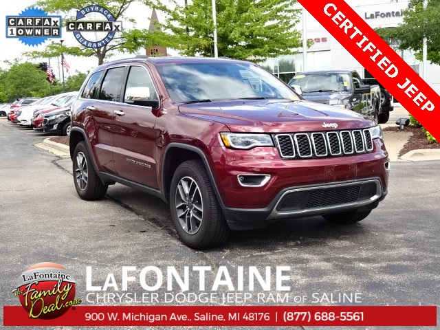 CERTIFIED PRE-OWNED 2019 JEEP GRAND CHEROKEE LIMITED 4WD